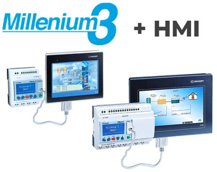 Com consolas HMI táteis