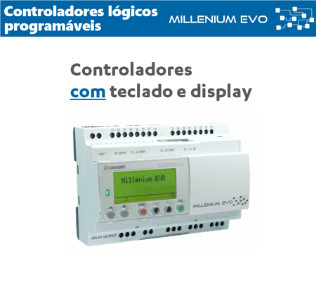 PLC's com teclado e display