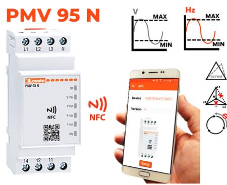 Mín V + Máx V + Mín Hz + Máx Hz + Assimetria + Falta de fase/neutro + Sequência de fases