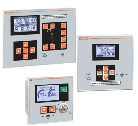 RGK…SA - Controlo de geradores isolados ou em ilha (stand-alone)