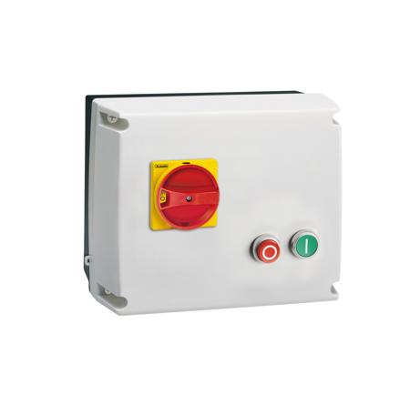 M3P - em caixa IP65 + interruptor + botões 0-I