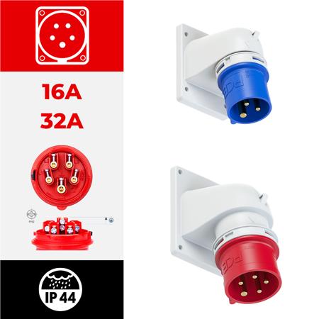 IP44 angulares