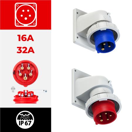 IP67 angulares